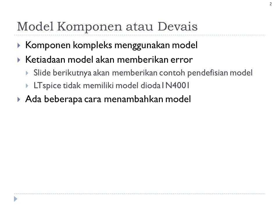 Model Komponen atau Devais
