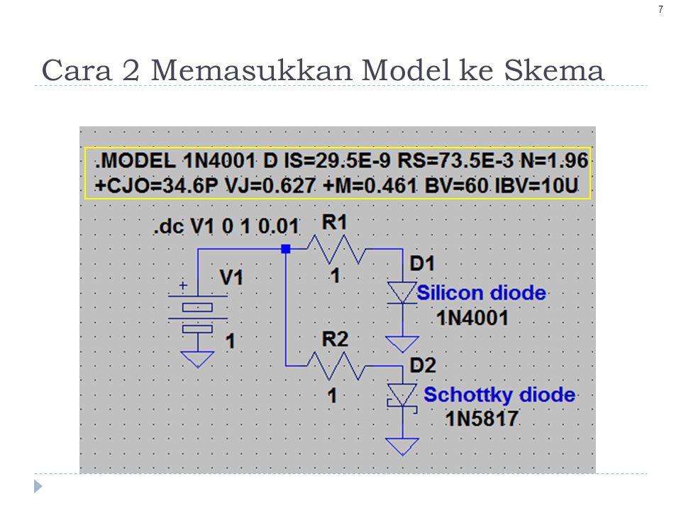 Cara 2 Memasukkan Model ke Skema