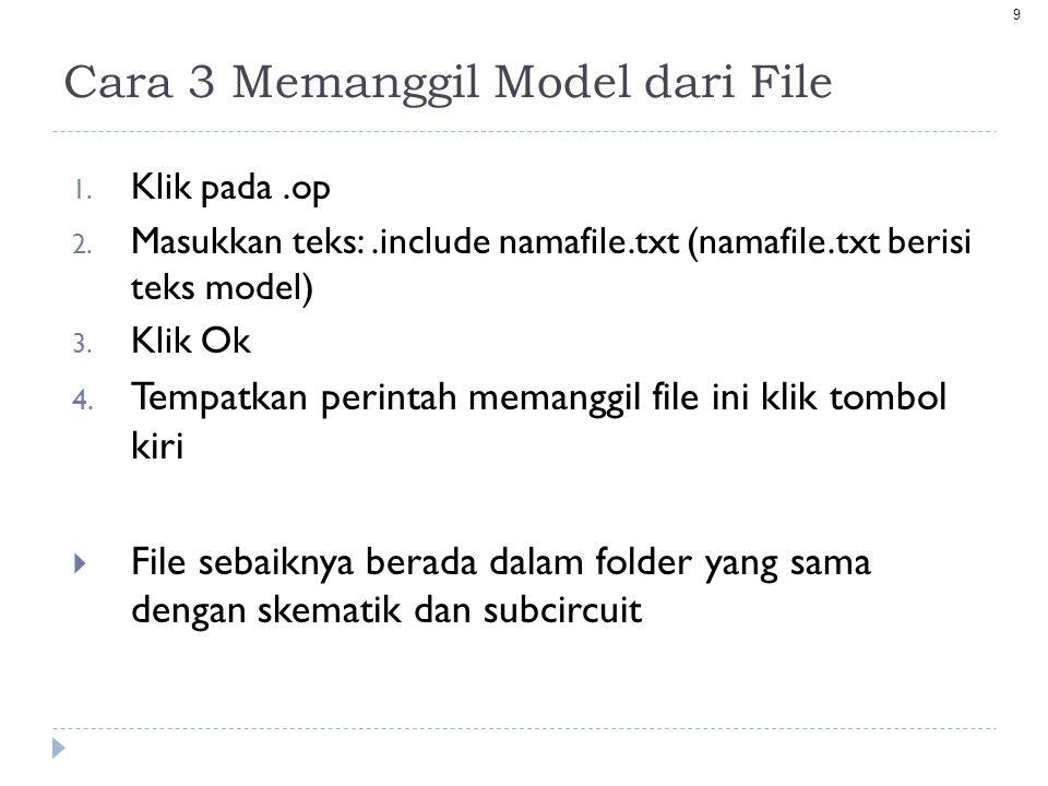 Cara 3 Memanggil Model dari File