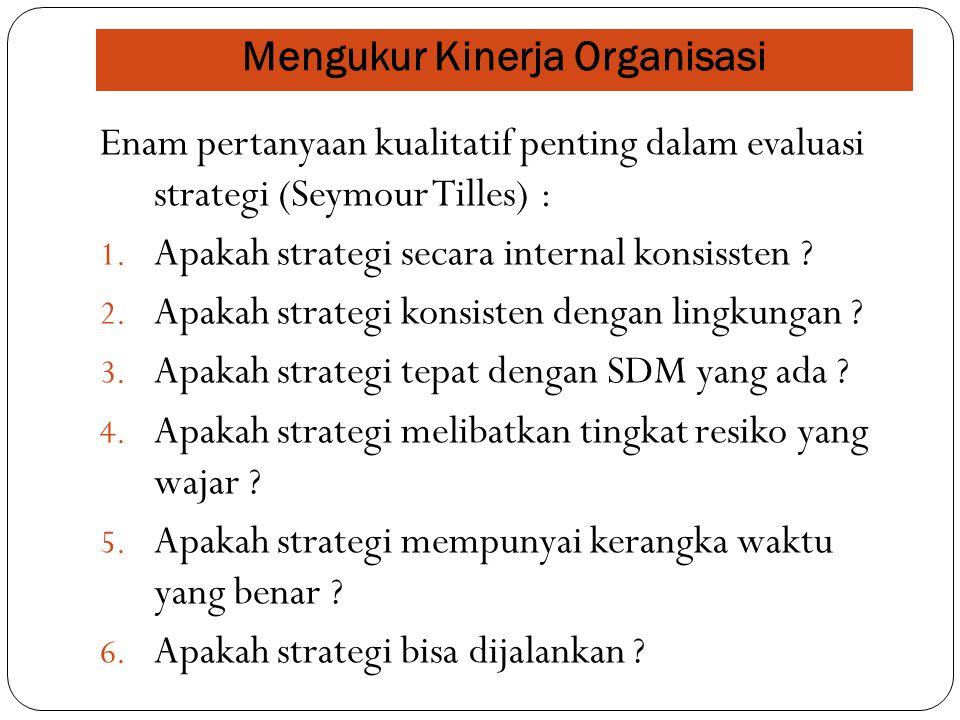 Mengukur Kinerja Organisasi
