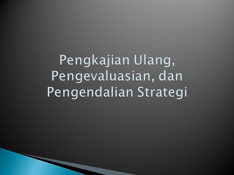 Pengkajian Ulang, Pengevaluasian, dan Pengendalian Strategi
