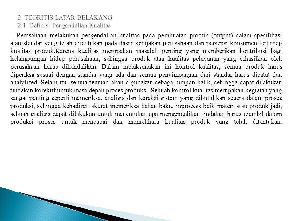 2. TEORITIS LATAR BELAKANG 2.1. Definisi Pengendalian Kualitas