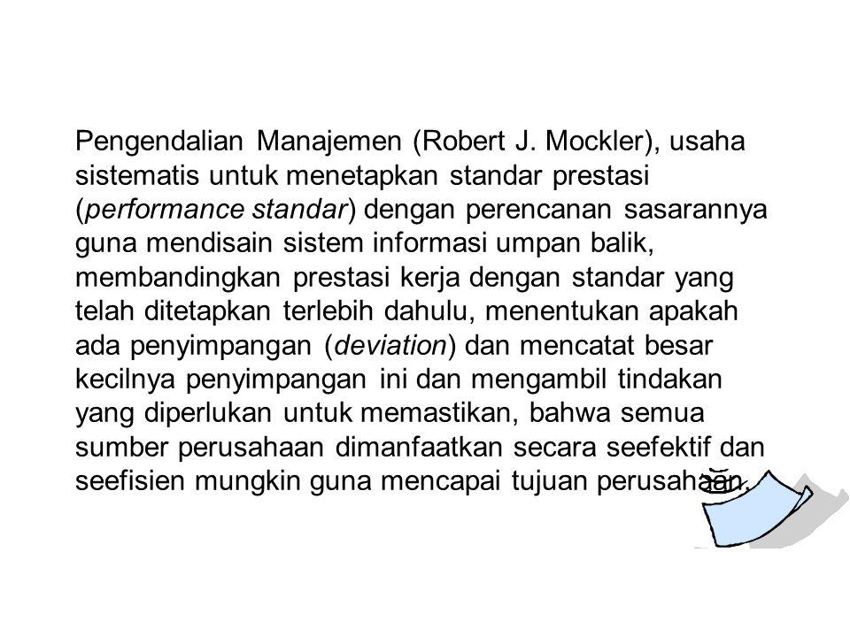 Pengendalian Manajemen (Robert J