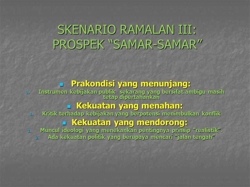SKENARIO RAMALAN III: PROSPEK SAMAR-SAMAR