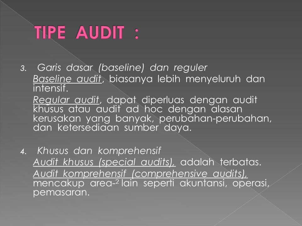 TIPE AUDIT : Garis dasar (baseline) dan reguler