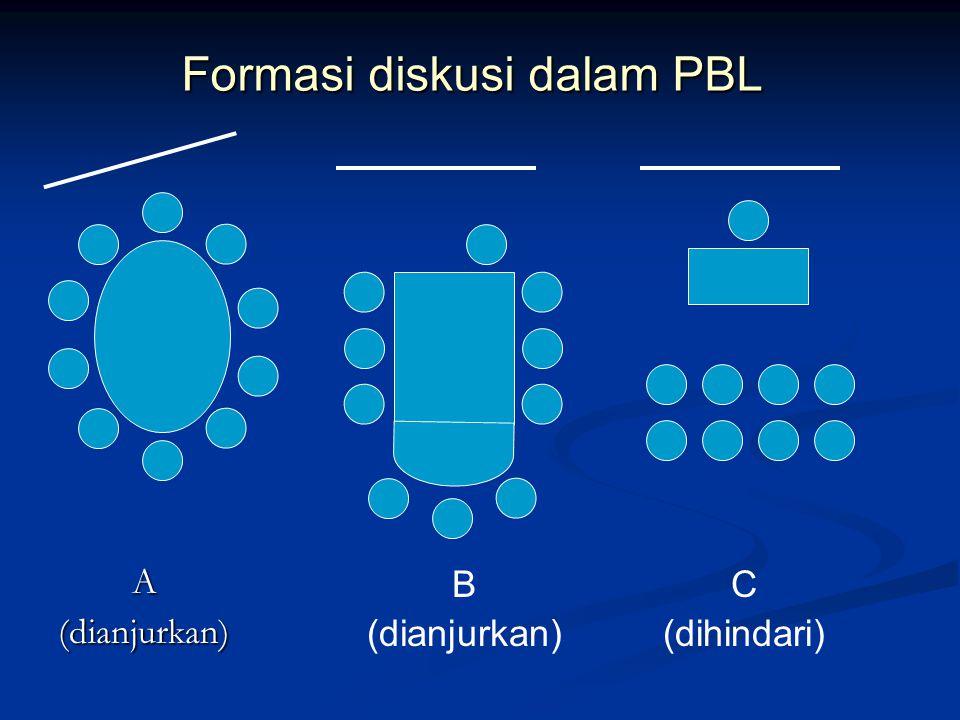 Formasi diskusi dalam PBL