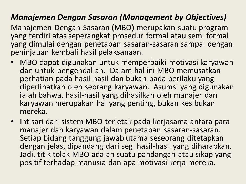 Manajemen Dengan Sasaran (Management by Objectives)