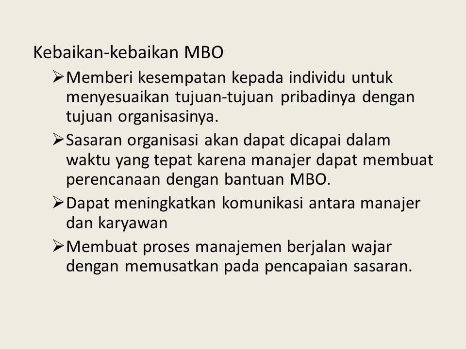 Kebaikan-kebaikan MBO