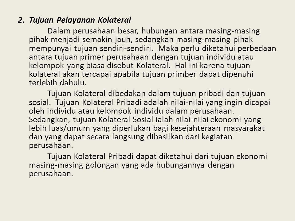 2. Tujuan Pelayanan Kolateral