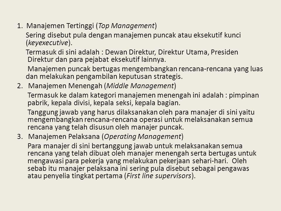 1. Manajemen Tertinggi (Top Management)