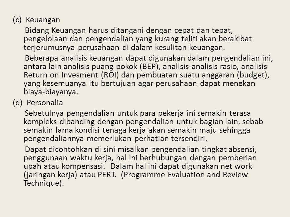 (c) Keuangan