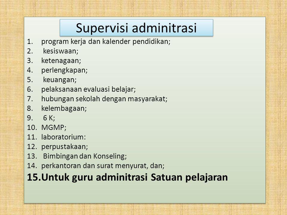 Supervisi adminitrasi
