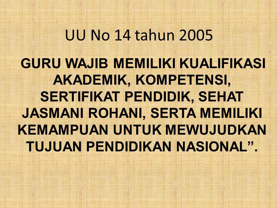 UU No 14 tahun 2005
