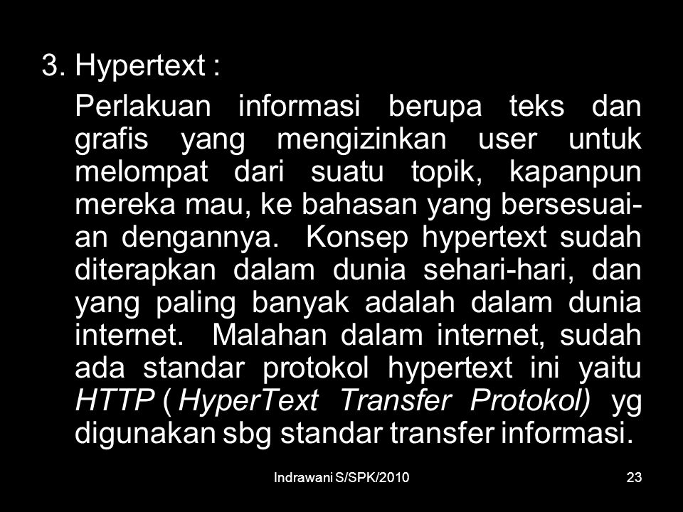 3. Hypertext :