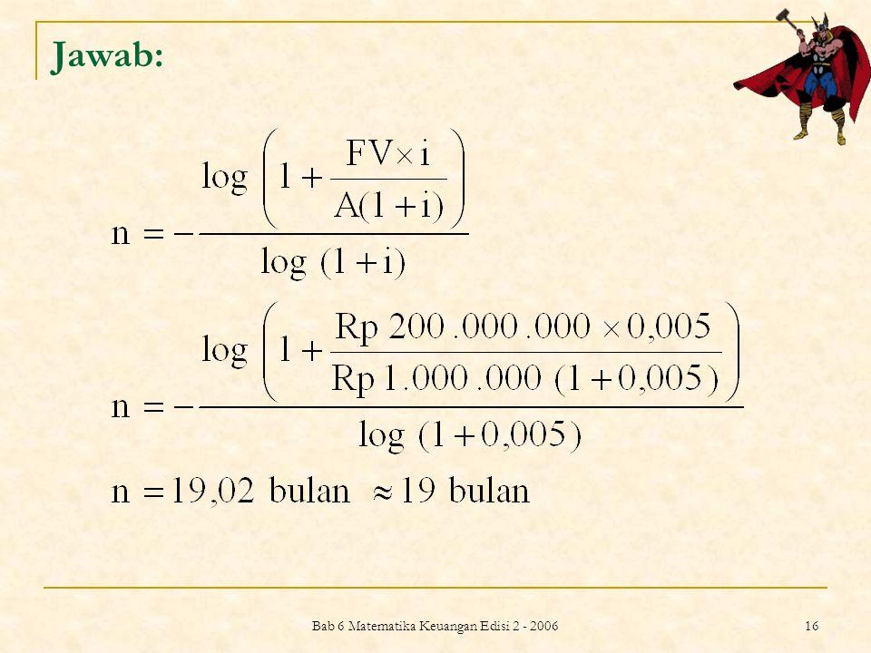 Bab 6 Matematika Keuangan Edisi 2 - 2006
