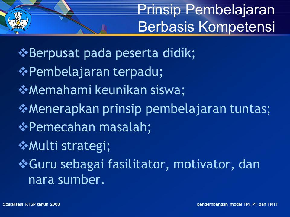 Prinsip Pembelajaran Berbasis Kompetensi