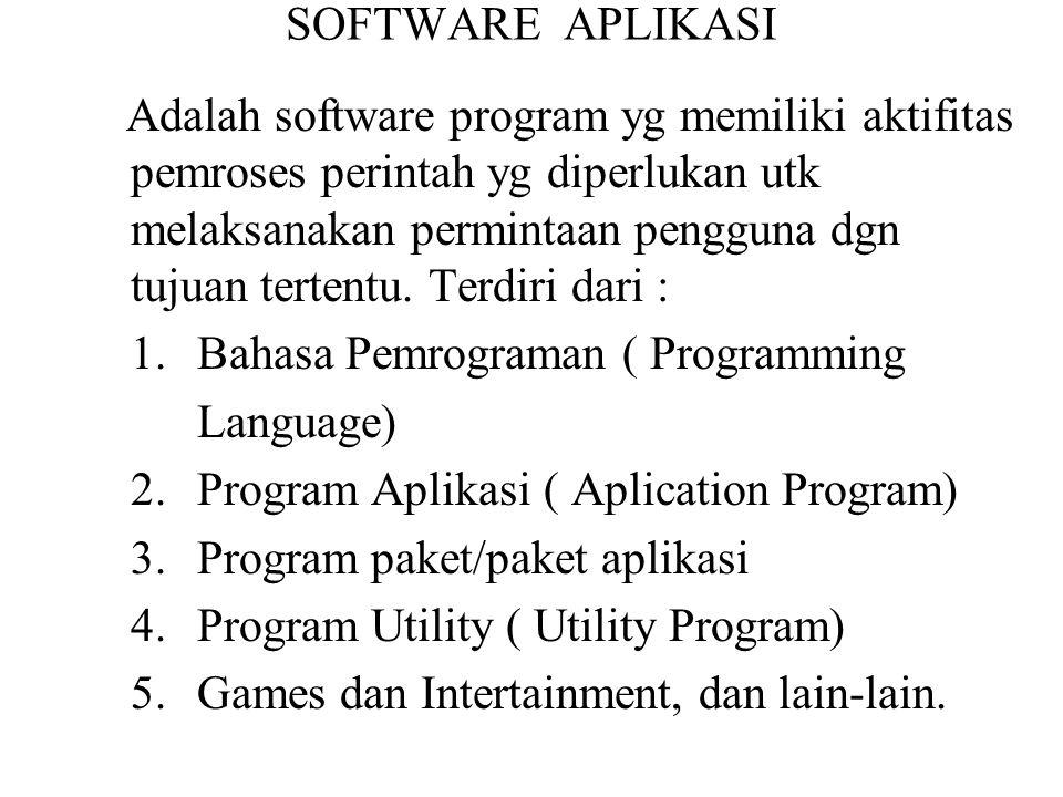 1. Bahasa Pemrograman ( Programming Language)