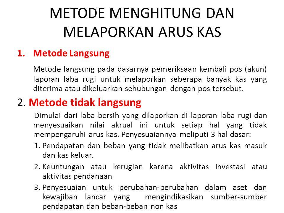 METODE MENGHITUNG DAN MELAPORKAN ARUS KAS