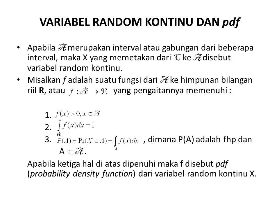 VARIABEL RANDOM KONTINU DAN pdf