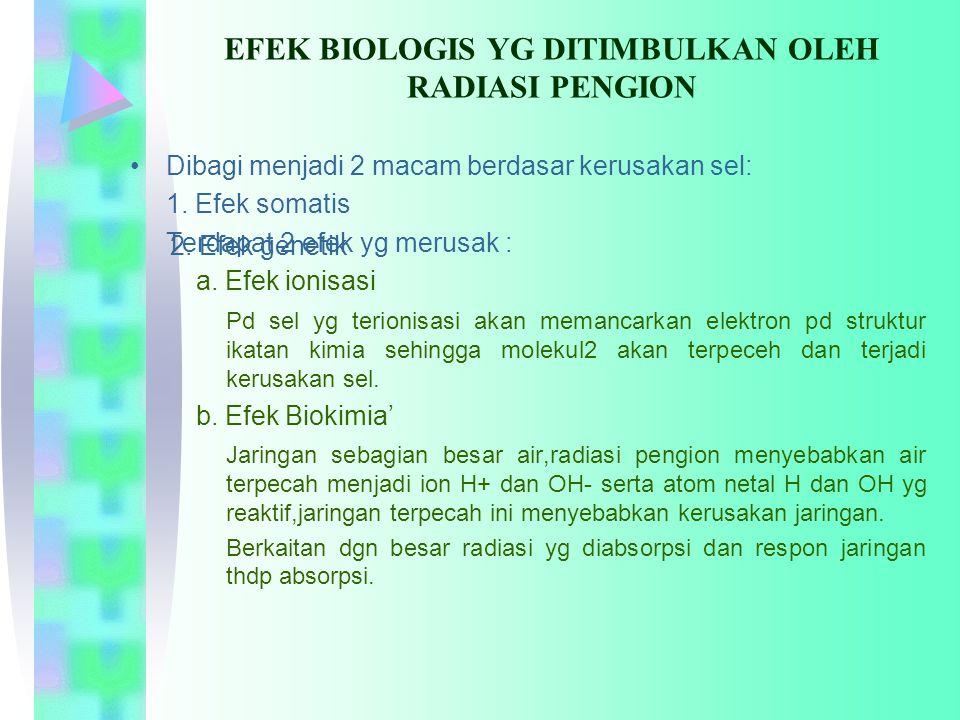EFEK BIOLOGIS YG DITIMBULKAN OLEH RADIASI PENGION