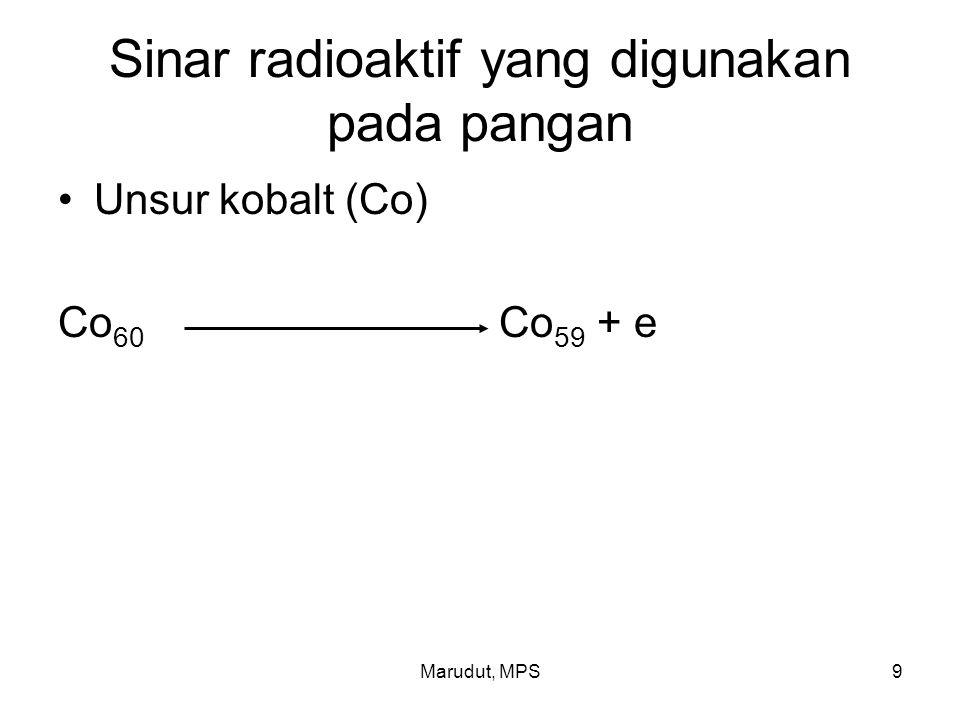 Sinar radioaktif yang digunakan pada pangan