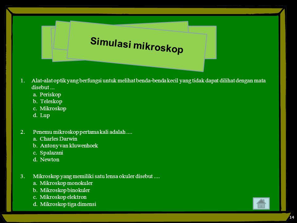 Simulasi mikroskop