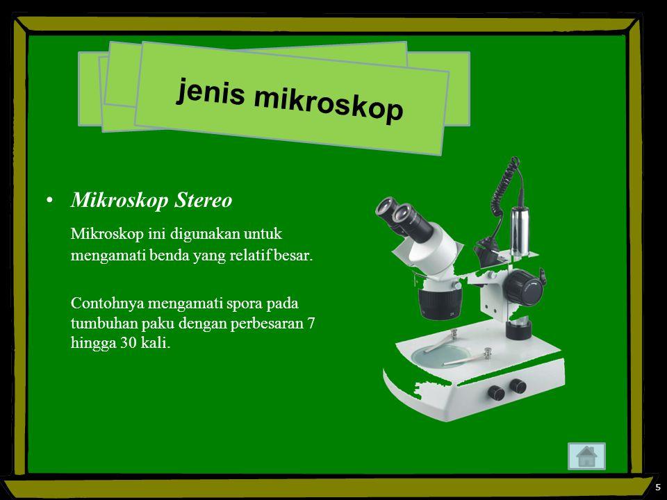 jenis mikroskop Mikroskop Stereo