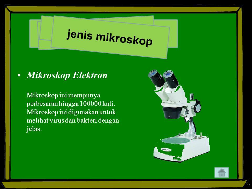 jenis mikroskop Mikroskop Elektron