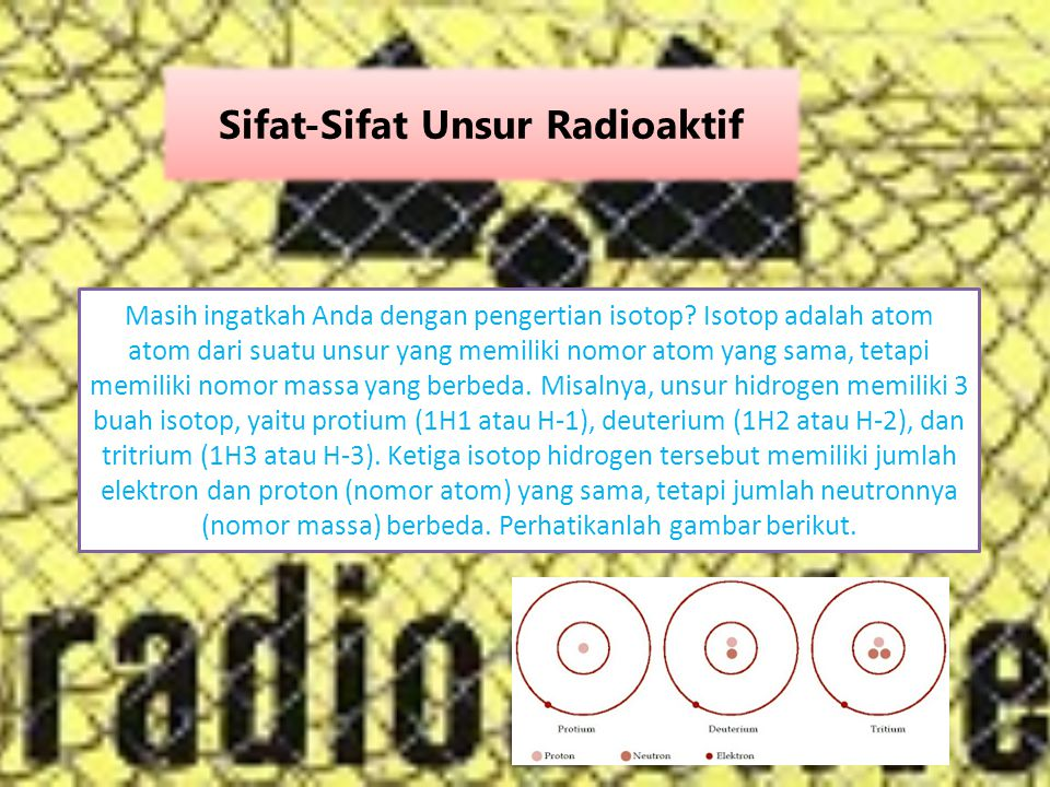 Sifat-Sifat Unsur Radioaktif