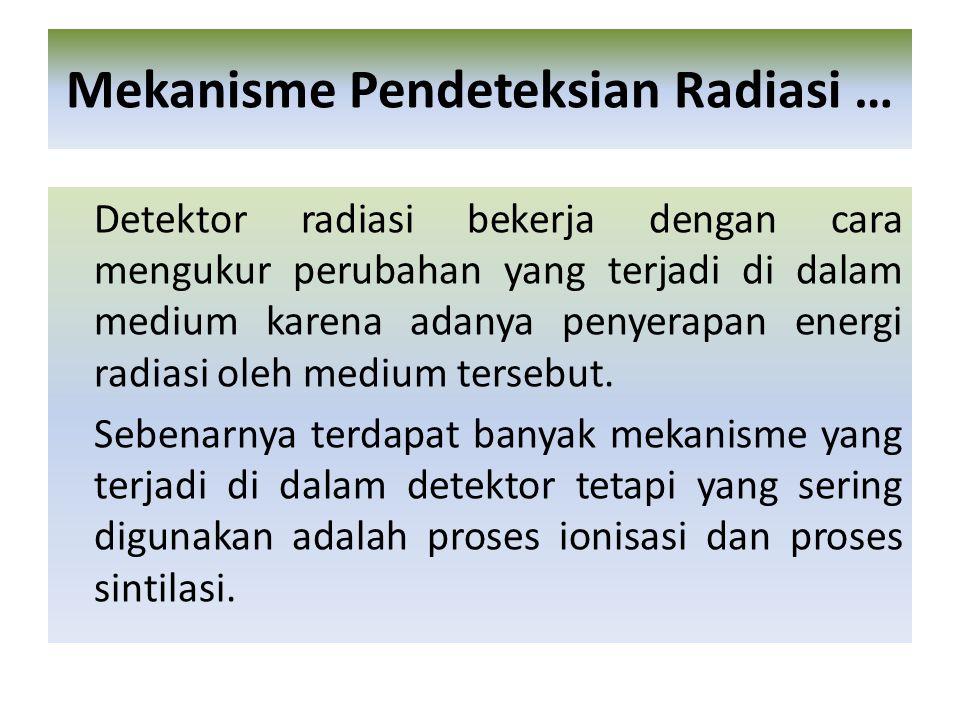 Mekanisme Pendeteksian Radiasi …