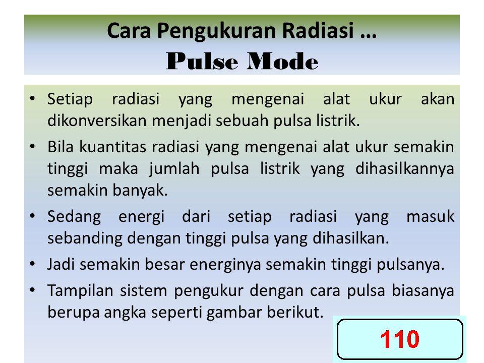 Cara Pengukuran Radiasi … Pulse Mode