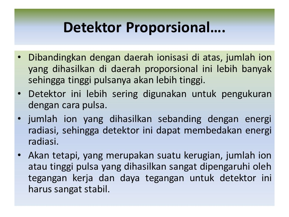 Detektor Proporsional….