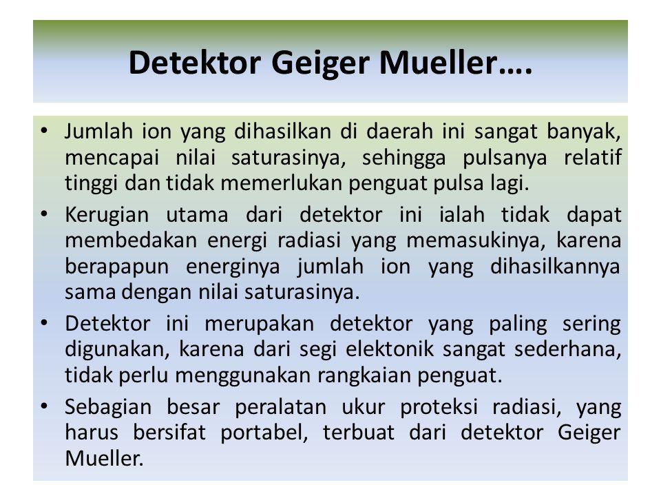 Detektor Geiger Mueller….