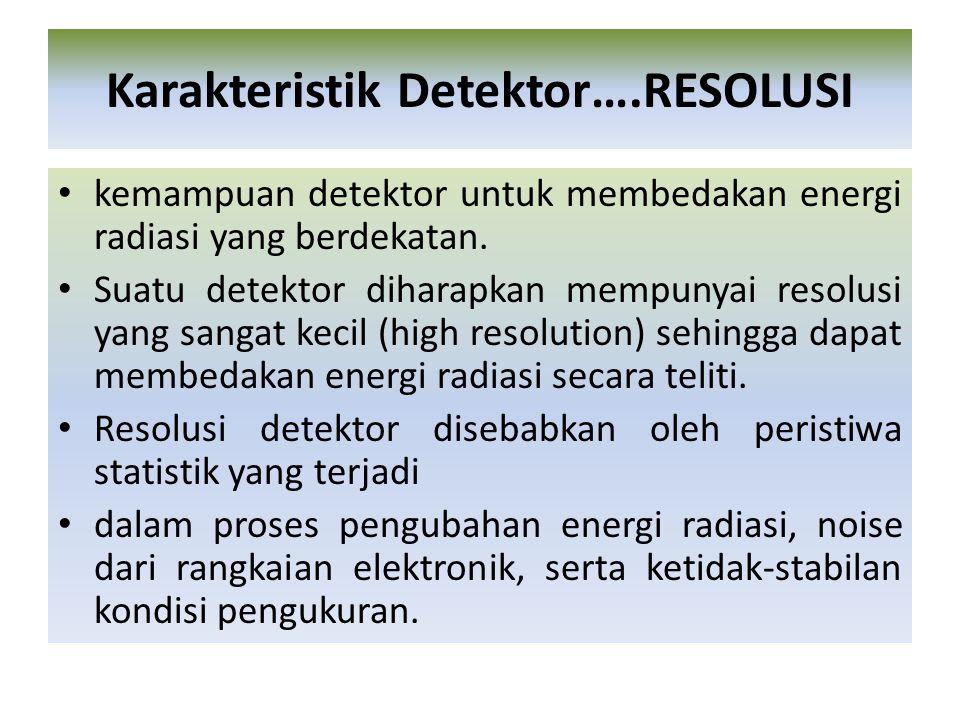 Karakteristik Detektor….RESOLUSI