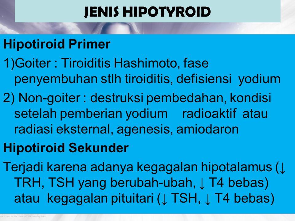 JENIS HIPOTYROID