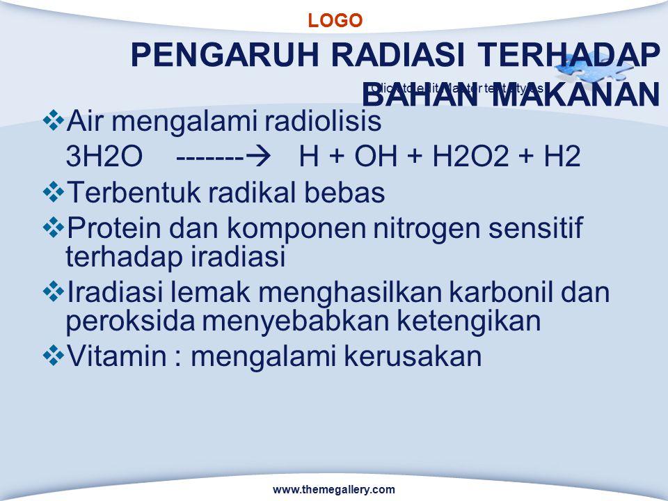 PENGARUH RADIASI TERHADAP BAHAN MAKANAN