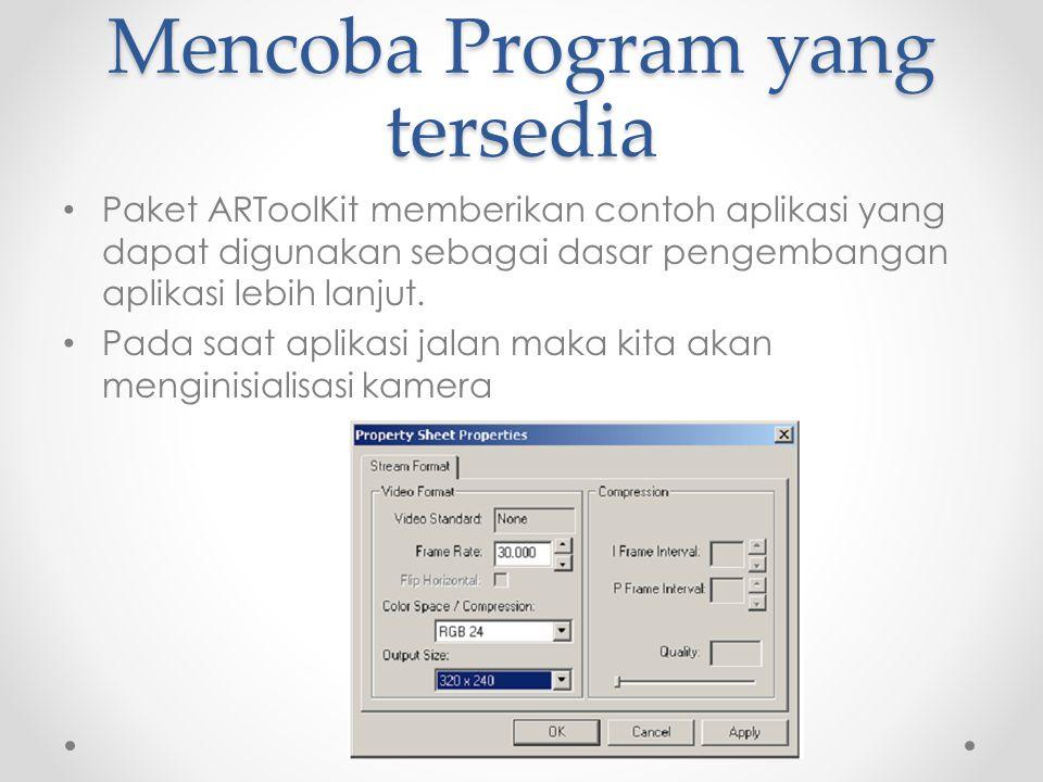 Mencoba Program yang tersedia