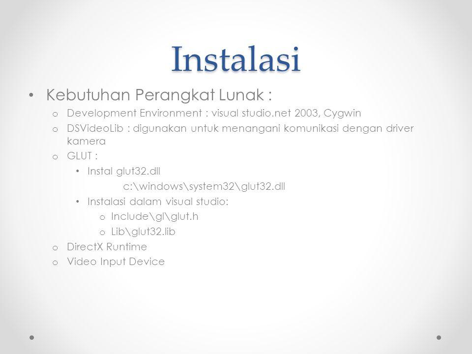 Instalasi Kebutuhan Perangkat Lunak :