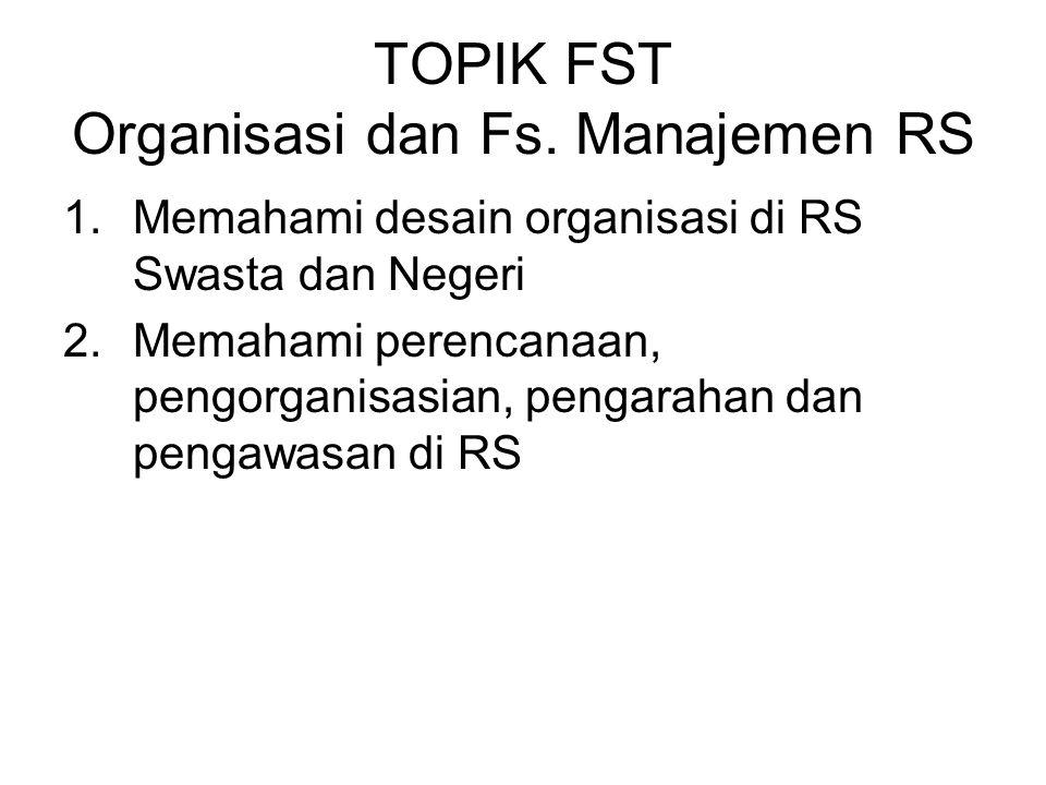 TOPIK FST Organisasi dan Fs. Manajemen RS