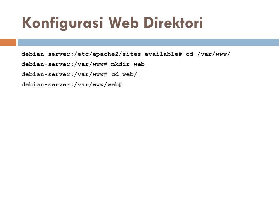Konfigurasi Web Direktori