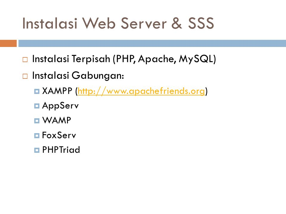 Instalasi Web Server & SSS