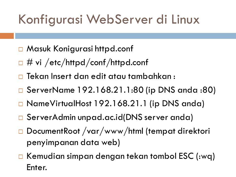 Konfigurasi WebServer di Linux