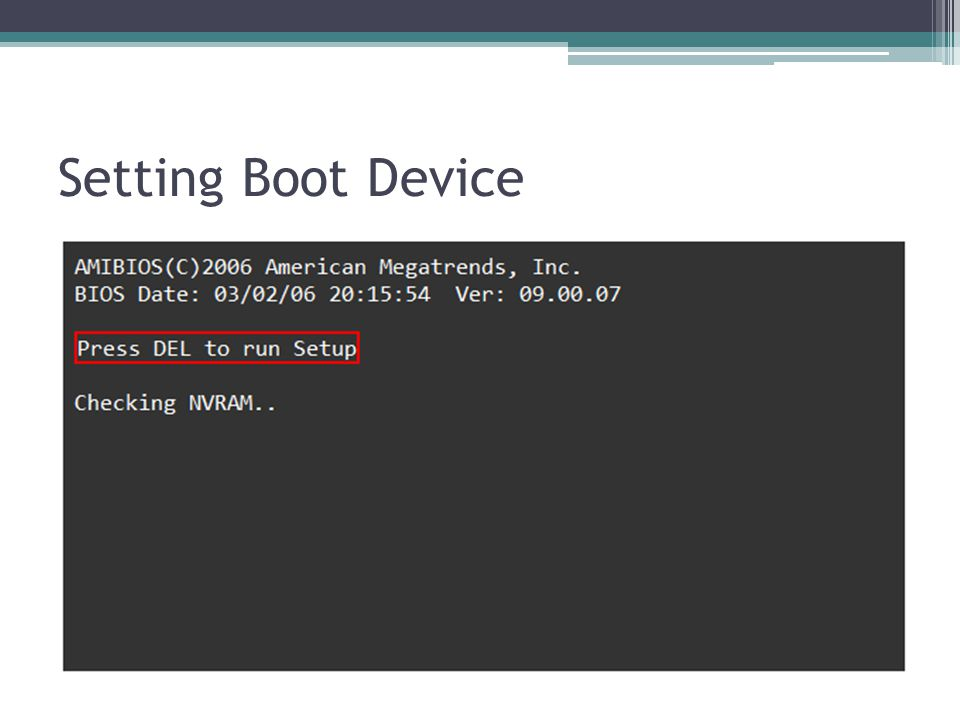 Setting Boot Device