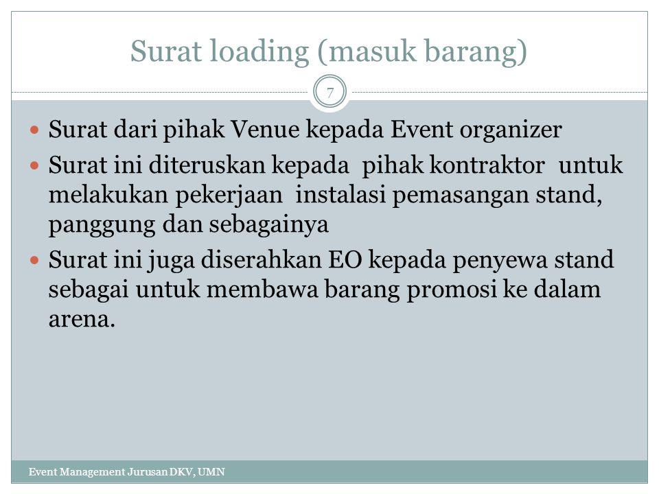 Surat loading (masuk barang)