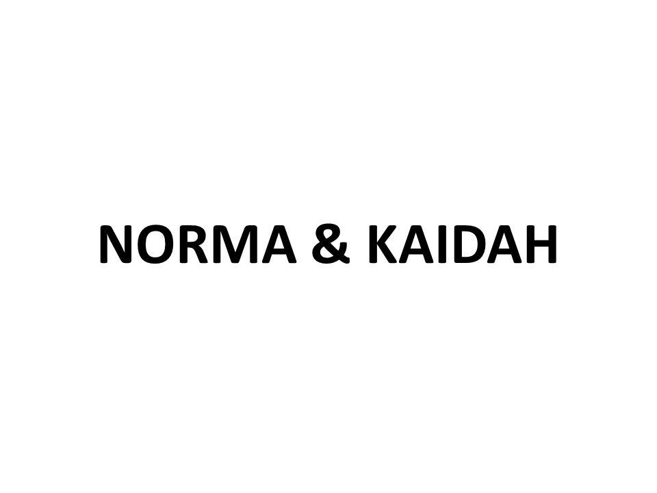 NORMA & KAIDAH