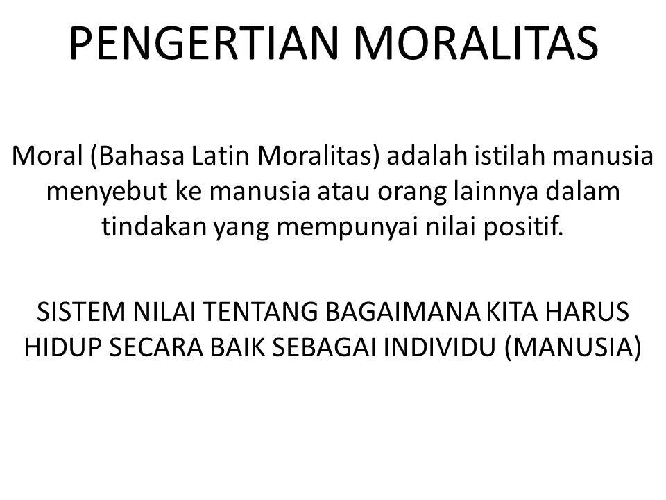 PENGERTIAN MORALITAS