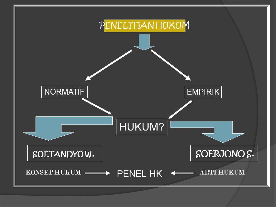 HUKUM SOETANDYO W. SOERJONO S. PENEL HK PENELITIAN HUKUM NORMATIF