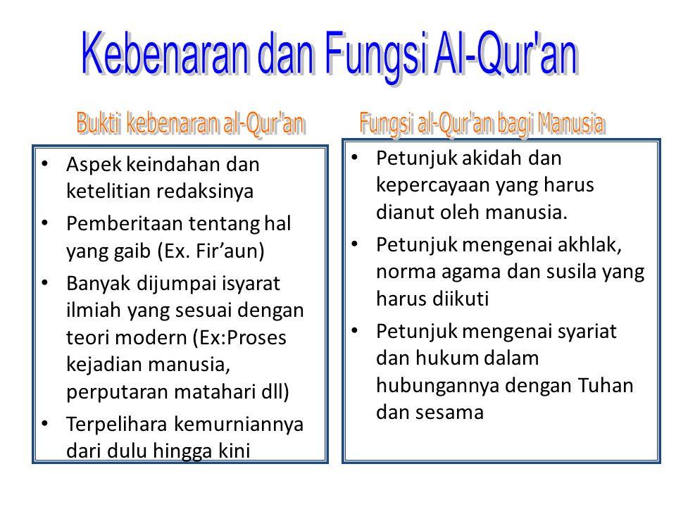 Kebenaran dan Fungsi Al-Qur an