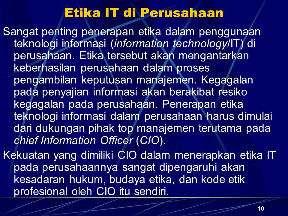 Etika IT di Perusahaan