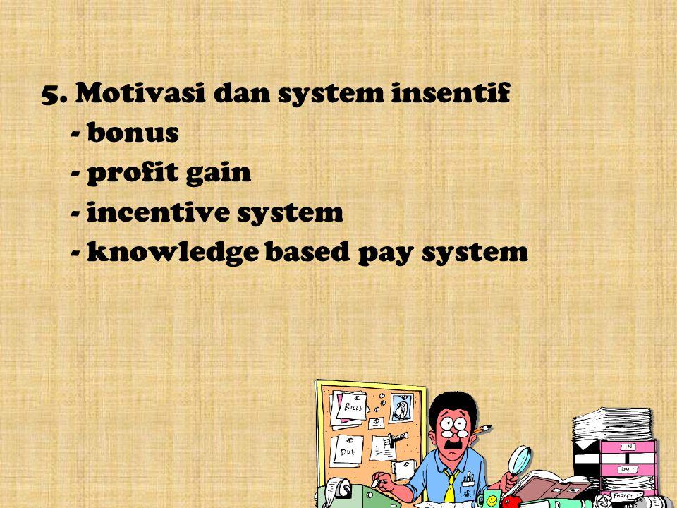 5. Motivasi dan system insentif